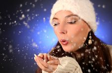 Free Blows Snowflakes Stock Images - 17215994