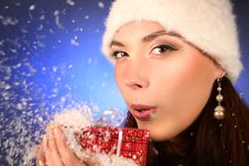 Free Face In Snow Stock Image - 17216161