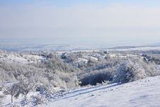 Free Winter Scene In A Little Village Royalty Free Stock Images - 17216169