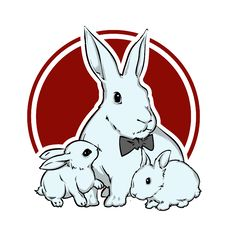 Free Easter Bunnies Vector Royalty Free Stock Image - 17216196
