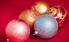Free Christmas Balls . Stock Images - 17216454