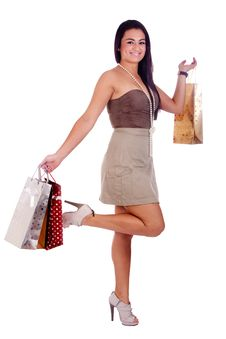 Happy Shopping Girl Stock Photo