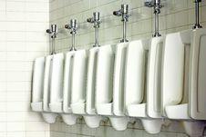Free Urinal Man Clean Toilets Royalty Free Stock Photos - 17216538