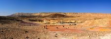 Free Panorama Desert Of The Crater Ramon Royalty Free Stock Photography - 17216597
