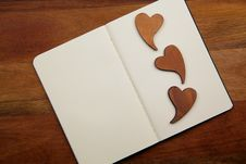 Free Blank Notebook With Hearts Royalty Free Stock Photo - 17216665