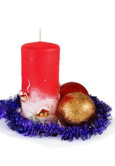 Free Christmas Decoration On White Stock Image - 17216781