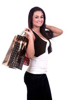 Happy Shopping Girl Royalty Free Stock Image