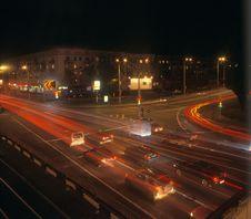 Free Night Traffic. Royalty Free Stock Images - 17217289