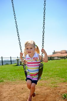Free Child On Swing Royalty Free Stock Photos - 17217778