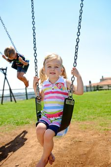 Free Child On Swing Stock Image - 17217821