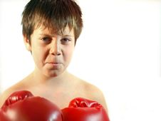 Boy Boxer Royalty Free Stock Photos