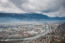 Free Beautiful Grenoble From Bastille, France Royalty Free Stock Images - 17218319