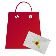 Free Christmas Shopping Bag Royalty Free Stock Photo - 17218355