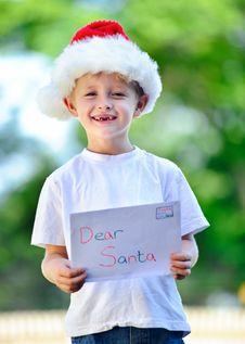 Free Child With Santa Hat Stock Image - 17218491