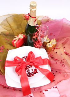 Free New Year S Or Valentine S Setting Royalty Free Stock Images - 17218689