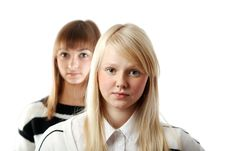 Free Portrait Two Girls Stock Photography - 17218762