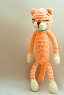 Free Knitted Cat Toy Stock Photo - 17219120