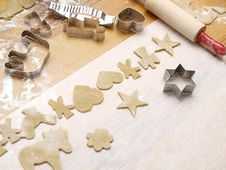 Free Christmas Cookie Baking Royalty Free Stock Photo - 17219225