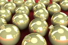Free Gold Christmas Balls Stock Photography - 17219332