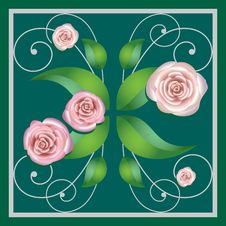 Free Element Of A Flower Ornament, Roses Royalty Free Stock Photo - 17219975