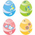 Free Easter Eggs, Four Variants Of Color Royalty Free Stock Photo - 17222505