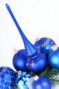 Free Christmas Blue Balls Stock Photography - 17223032