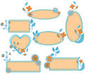 Free Floral Frames Set Royalty Free Stock Photos - 17228788