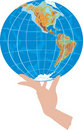 Free Globe In Hand On White Stock Photo - 17228890