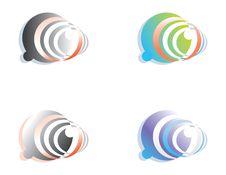 Free Abstract Symbols On The Basis Of A Circle Stock Photos - 17220003