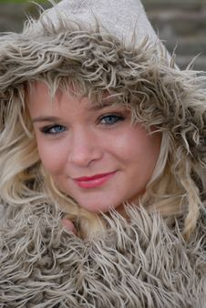 Free Pretty Female In Warm Coat Stock Images - 17220654
