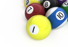 Free Billiard Balls Royalty Free Stock Images - 17221139