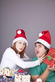 Girl Strangling Her Boyfriend Stock Image