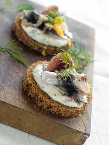 Free Anchovy Canapes Stock Images - 17221324