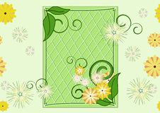 Free Seamless Leaf-and-flowers Green Pattern Royalty Free Stock Photos - 17221898