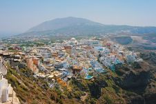 View Of Fira In Santorini Royalty Free Stock Photo