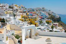 City Of Fira In Santorini Stock Photo