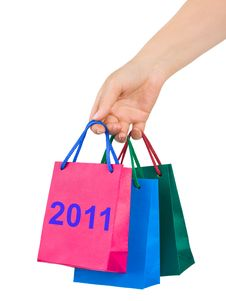 Free Hand With Shopping Bags 2011 Stock Images - 17222824
