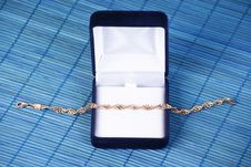 Blue Jewerly Box Stock Image