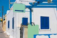Quiet Street In Santorini Stock Images