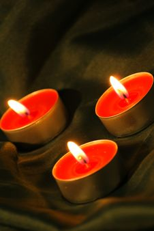Free Candles And Textile Royalty Free Stock Images - 17223169