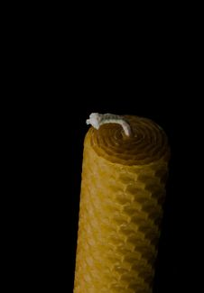 Free Beeswax Candle Royalty Free Stock Image - 17223416