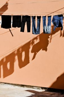 Free Laundering And Shadows Stock Photo - 17223540