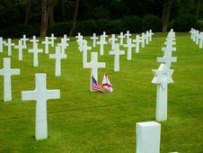 Free Omaha Beach Crosses Stock Photo - 17223610