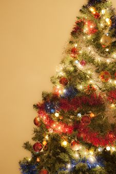Free Christmas Tree Decorated With Ornaments Royalty Free Stock Photo - 17223755
