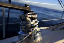 Free Sailboat Winch Stock Image - 17224131