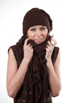 Free Woman In Hat And Scarf Stock Photo - 17224150