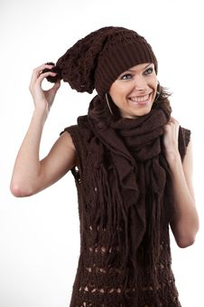 Free Woman In Hat And Scarf Royalty Free Stock Photography - 17224157