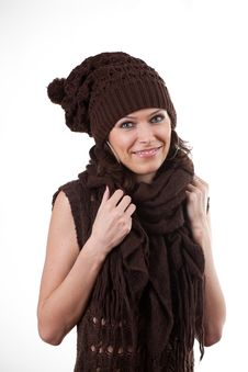 Free Woman In Hat And Scarf Stock Photo - 17224170