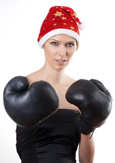 Free Boxing Girl Royalty Free Stock Photography - 17224177