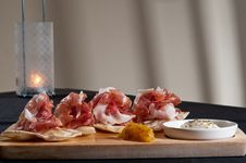 Free Parma Ham On Flatbread Stock Image - 17224491